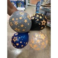 Kidspartim Neon Yildiz Baskili Lateks Balon