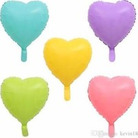 Kidspartim Pembe Makaron Folyo Kalp Balon