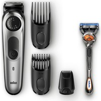 Braun BT 5065 Saç & Sakal Şekillendirici AutoSense Teknoloji Siyah&Gri Kablosuz Islak&Kuru+ Gillette