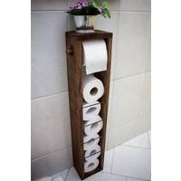 PlatinReyon Ahşap Wc Kağıtlık Tuvalet Kağıtlığı Banyo Aksesuarı