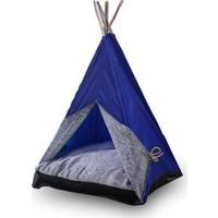 Bedspet Kedi Çadırı Mavi Büyük Boy