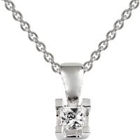 Clavis Jewelry Tektaş Pırlanta Kolye 14 Ayar