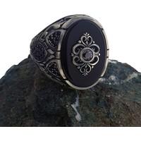Dalman Silver Onix Taşlı Özel Koleksiyon Gümüş Erkek Yüzüğü