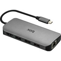 Bix BX10Hb Type-C™ 1*4K Ultra HD Hdmı 3*Usb 3.0 Gigabit Ethernet 1*Pd 1*Micro SD 1*SD Macbook Uyumlu Adaptör