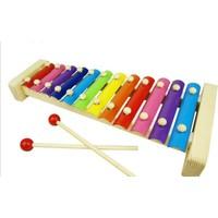 Hamaha Wooden Toys Eğitici Ahşap Ksilofon 12 Nota 12 Ton 37 cm 12 Tuşlu Sesli Selefon Oyuncak