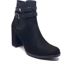 Shop And Shoes 084-188 Kadın Bot Siyah Süet