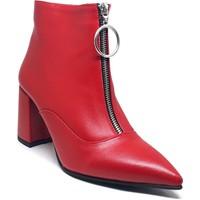 Shop And Shoes 021-101 Kadın Bot Kırmızı