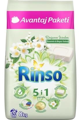 Rinso Doğanın İçinden Yasemin & Beyaz Sabun Toz Deterjan 8 KG