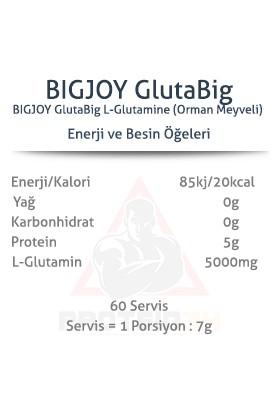 Bigjoy Sports Glutabig L- Glutamine Powder 420 gr 60 Servis Aromalı