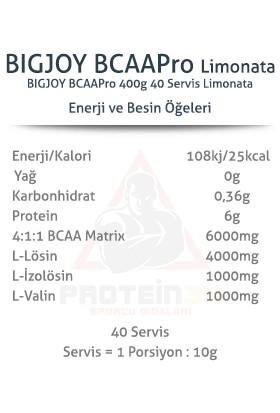 Bigjoy Sports Bcaa Pro 4:1:1 400 gr 40 Servis 3 Farklı Aroma