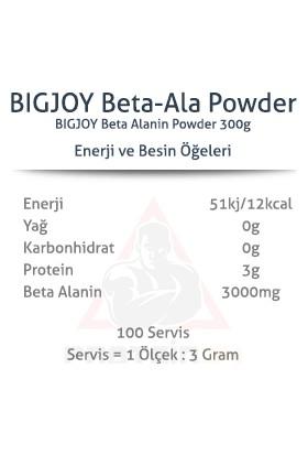 Bigjoy Beta Alanine Powder 300 gr Aromasız Amıno Asıt