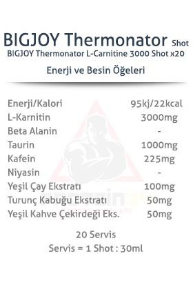 Bigjoy Thermonator L-Carnitin 3000 Mg 20 Ampül Portakal Aromalı Likit Karnitine