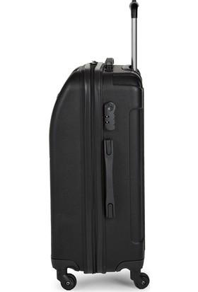 Blue Monkey V Model 3'lü Valiz Seti Kabin Orta Büyük Siyah
