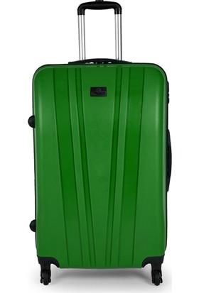 Blue Monkey V Model 3'lü Valiz Seti Kabin Orta Büyük Zümrüt Yeşil
