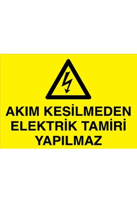 Canis Etiket Akım Kesilmeden Elektrik Tamiri Yapılmaz Dekota