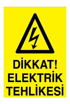 Canis Etiket Dikkat Elektrik Tehlikesi Alüminyum