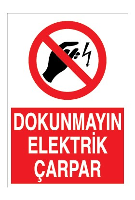 Canis Etiket Dokunmayın Elektrik Çarpar Pvc - Leksan