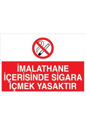 Canis Etiket Imalathane Içerisinde Sigara Içmek Yasaktır Dekota