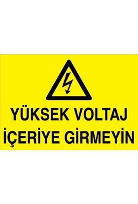Canis Etiket Yüksek Voltaj Içeriye Girmeyin Alüminyum