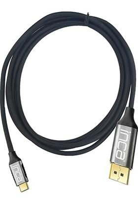 Inca ITCH-02TX Type-C To HDMI 4K Altın Uçlu Kablo 2 mt