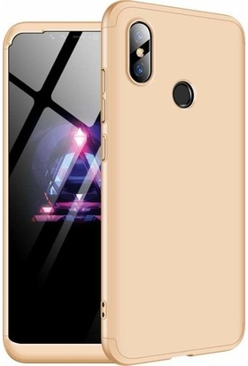 ZORE Xiaomi Mi 8 Lite 360 Derece Kılıf - Gold