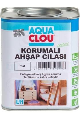 Clou L11 Su Bazlı Şeffaf Mat Ahşap Verniği - Korumalı Ahşap Cilası 750 ml