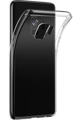 Tekno Grup Samsung Galaxy S9 Plus Silikon Kılıf + Full Body Ekran Koruyucu Şeffaf