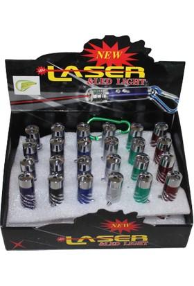 Italyano Mini El Feneri Lazer ve Anahtarlık 12Lİ Set