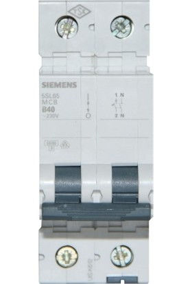 Siemens Bir Faz Ve Nötr Kesmeli 40 Amper B Tipi 6KaOtomatik Sigorta