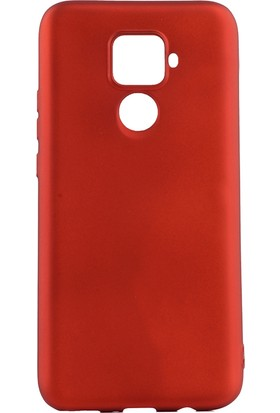 KNY Huawei Mate 30 Lite Kılıf Ultra İnce Mat Silikon + Cam Ekran Koruyucu Kırmızı