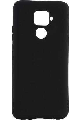 KNY Huawei Mate 30 Lite Kılıf Ultra İnce Mat Silikon + Nano Cam Ekran Koruyucu Siyah