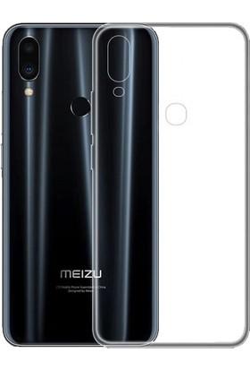 KNY Meizu Note 9 Kılıf Ultra İnce Şeffaf Silikon + Nano Cam Ekran Koruyucu Şeffaf
