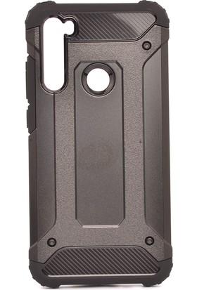 KNY Xiaomi Redmi Note 8 Kılıf Ultra Korumalı Çift Katmanlı Armour Case + Nano Cam Ekran Koruyucu Siyah