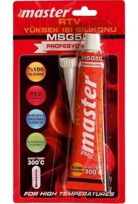 First Master MSG60 Rtv Yüksek Isı Silikonu Tüp 50 ml 57 g