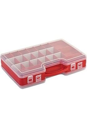 Hipaş Plastik - 44 Bölmeli Kapaklı Organizer Kutu - 844