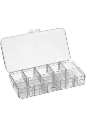 Hipaş Plastik - 10 Bölmeli Kapaklı Organizer Kutu - 607