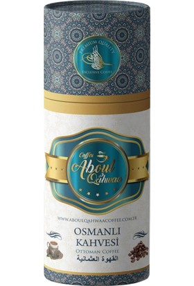 Aboul Qahwaa Silindir Türk Kahvesi + Osmanlı Kahvesi + Dibek Kahvesi + Menengiç Kahvesi ve Damla Sakızlı Kahve 5 x 250 gr