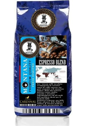 Montana Premium Espresso Blend (Orta Kavrum) Çekirdek Kahve 1 kg