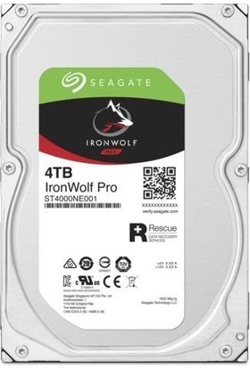 "Seagate IronWolf Pro 3.5"" 4TB 7200RPM 256MB Sata E-Nas Disk ST4000NE001"