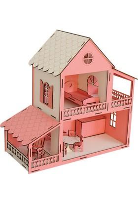 Okutan Hobi EV12 Pembe Barbie Ev 45 cm Eşyalı Demonte