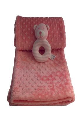 Aksu İpeksoft Çıngıraklı Bebek Battaniyesi