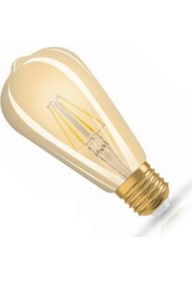Osaka Light 6W Flamanlı LED Rustik ST64 Ampul Günışığı