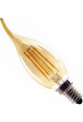 Osaka Light 4W Flamanlı LED Rustik Kıvrık Buji Ampul Günışığı