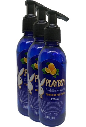 Playboy Pure Edible Aromalı Masaj Yağı 120 ml x 3