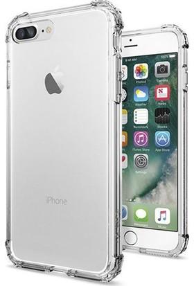 Esepetim Apple iPhone 7/8 Plus Dört Köşeli Kılıf - Şeffaf