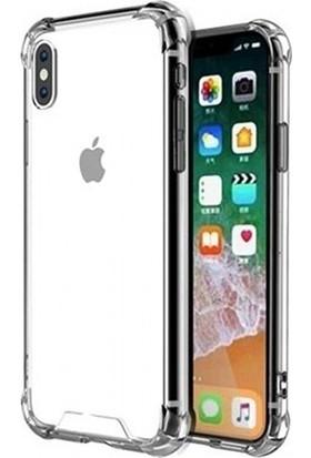 Esepetim Apple iPhone X/XS Dört Köşeli Kılıf - Şeffaf