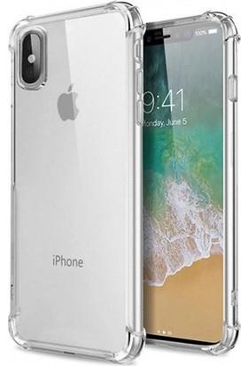 Esepetim Apple iPhone XS Max Dört Köşeli Kılıf - Şeffaf