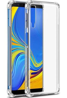 Esepetim Samsung Galaxy A7 2018 Dört Köşeli Kılıf - Şeffaf