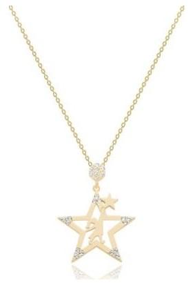 Tektaş - Altın 14 Ayar Yıldız Kolye 1011530579T