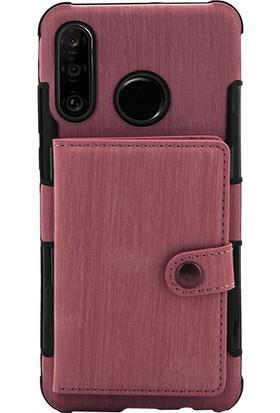 CoverZone Samsung Galaxy J8 Kılıf Kart ve Para Gözlü Cüzdan Keseli Kapak Bordo